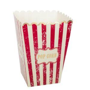 8 boites a popcorn cirque vintage ivoire rouge et dorure or 13x10cm Bobidibou évènement anniversaire enfant location décoration matériel 01 genève