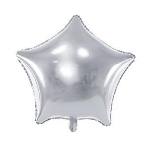 Ballon Aluminium étoiles argentées 48 cm Bobidibou evenement anniversaire enfant location décoration matériel 01 genève