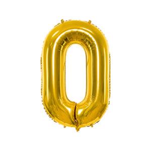 Ballon 0 Or chiffre 86cm achat matériel décoration anniversaire enfant Bobidibou 01 Pays de Gex France
