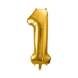 Ballon chiffre 1 Or 86cm achat matériel décoration anniversaire enfant Bobidibou 01 Pays de Gex France
