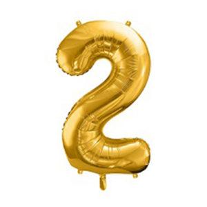 Ballon chiffre 2 Or 86cm achat matériel décoration anniversaire enfant Bobidibou 01 Pays de Gex France