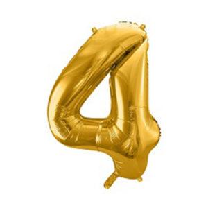 Ballon chiffre 4 Or 86cm achat matériel décoration anniversaire enfant Bobidibou 01 Pays de Gex France