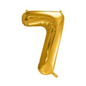 Ballon chiffre 7 Or 86cm achat matériel décoration anniversaire enfant Bobidibou 01 Pays de Gex France