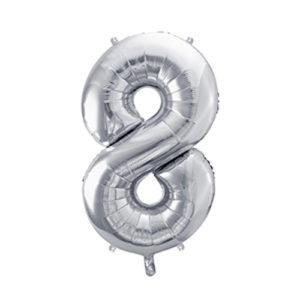 Ballon chiffre 8 argent 86cm achat matériel décoration anniversaire enfant Bobidibou 01 Pays de Gex France