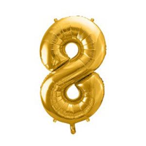 Ballon chiffre 8 Or 86cm achat matériel décoration anniversaire enfant Bobidibou 01 Pays de Gex France
