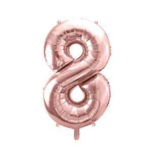 Ballon chiffre 8 rose gold 86cm achat matériel décoration anniversaire enfant Bobidibou 01 Pays de Gex France-min