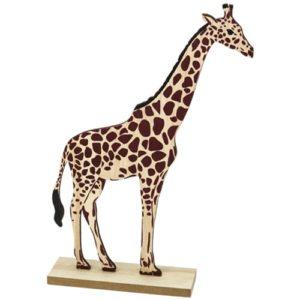 Girafe sur socle en bois 27,5x18cm Bobidibou evenement anniversaire enfant decoration location 01