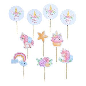 Mini toppers Licorne personnalisées anniversaire enfant Bobidibou achat matériel décoration1