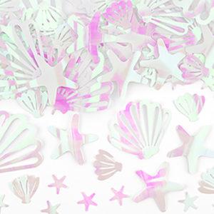 Sachet confettis iridescentes sirène 15g Bobidibou achat matériel décoration anniversaire enfant France