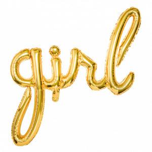 ballon girl aluminium or doré Bobidibou evenement anniversaire enfant decoration location 01 geneve
