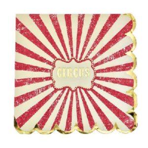 16 serviettes cirque 33x33cm Bobidibou evenement anniversaire enfant decoration location 01 geneve