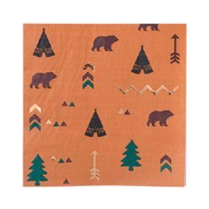16 serviettes indien indian forest 33x33cm Bobidibou evenement anniversaire enfant decoration location 01 geneve