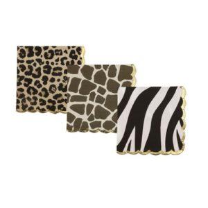 16 serviettes safari leopard girafe zebre 33x33cm Bobidibou evenement anniversaire enfant decoration location 01 geneve