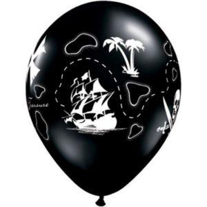 5 Ballons 11″ Pirate's Treasure Maps Bobidibou evenement location décoration matériel 01 genève
