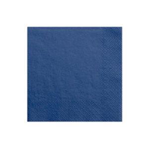 Serviettes Navy blue 33x33cm Bobidibou achat matériel décoration anniversaire enfant France