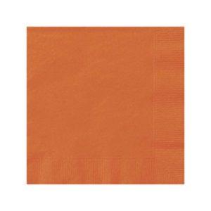 Serviettes Orange 33x33cm Bobidibou achat matériel décoration anniversaire enfant France