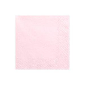 Serviettes Rose pastel 33x33cm Bobidibou achat matériel décoration anniversaire enfant France