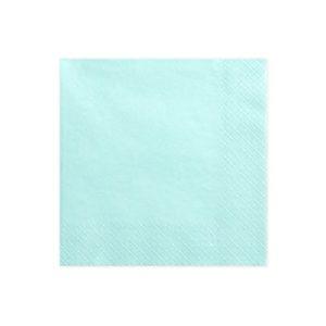 Serviettes bleu ciel 33x33cm Bobidibou achat matériel décoration anniversaire enfant France