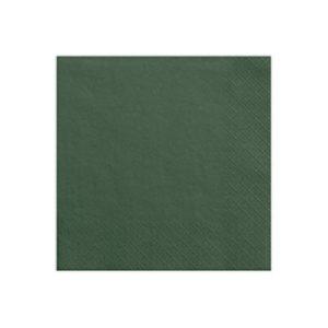 Serviettes vert 33x33cm Bobidibou achat matériel décoration anniversaire enfant France