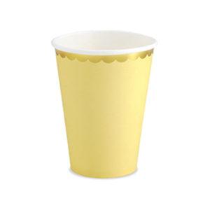 gobelet jaune pastel Bobidibou achat matériel décoration anniversaire enfant baby arc en ciel France