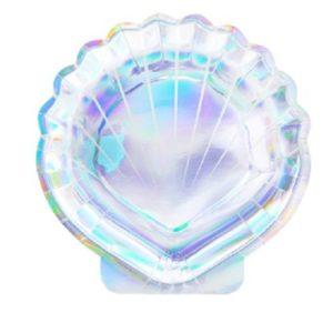 6-assiettes-en-carton-coquillage-holographique-18-5-cm