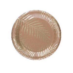 8-assiettes-palmier-dore-kraft-23cm-2 Bobidibou anniversaire enfant