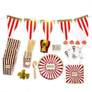 Kit Cirque 500px Bobidibou France anniversaire enfant baby shower decoration vaisselle bougie ballon kit deco atelier gender reveal party