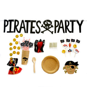 Kit Pirate 500px Bobidibou France anniversaire enfant baby shower decoration vaisselle bougie ballon kit deco atelier gender reveal party