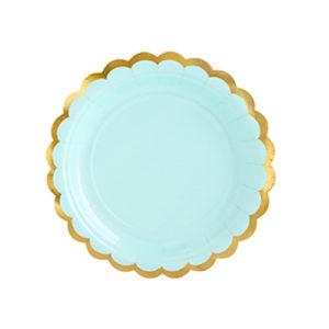 assiette mint pastel Bobidibou achat matériel décoration anniversaire enfant baby arc en ciel France