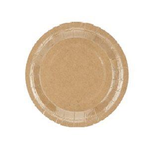 assiette-plate-ronde-en-carton-kraft-biodegradable-18-cm Bobidibou evenement anniversaire enfant decoration location 01 geneve 01