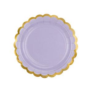 assiette lilas pastel Bobidibou achat matériel décoration anniversaire enfant baby arc en ciel France