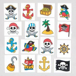 tatouages tatoos pirate anniversaire enfant bobidibou