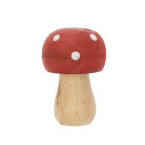 champignon bois rouge et blanc 5,5 x 9 cm foret baby shower bobidibou achat matériel décoration anniversaire enfant Genève France
