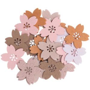 confettis bois floral x24 25mmx24mm 1 an baby shower bobidibou achat matériel décoration anniversaire enfant Genève France