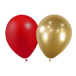 sachet de 5 ballons rouge et doré cirque Bobidibou achat matériel décoration anniversaire enfant France