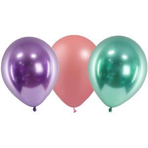 assortiment de 5 ballons métallisées sirène Bobidibou achat matériel décoration anniversaire enfant France