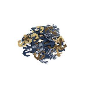100 confettis ancre or marine et blanc Bobidibou anniversaire enfant marin achat matériel décoration