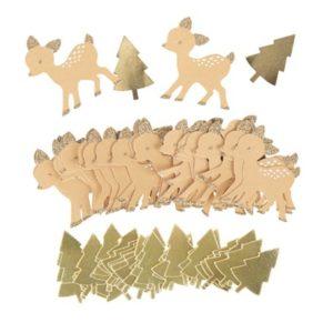 Confettis biche beige blanc dorure Or paill cuivre de 2.5 à 5cm Bobidibou anniversaire enfant achat matériel décoration France