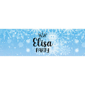 Contour Bouteille Flocons de neige Bobidibou achat matériel décoration anniversaire enfant France