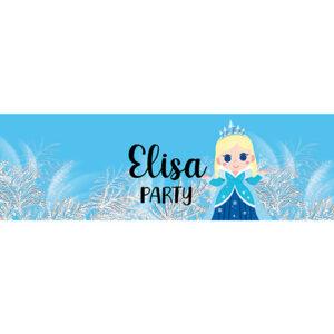 Contour Bouteille Princesse des neiges Bobidibou achat matériel décoration anniversaire enfant France
