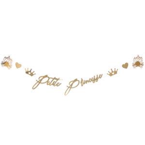 Guirlande Princesse métal or 7 à 24cm - 1.65m Bobidibou anniversaire enfant achat matériel décoration France