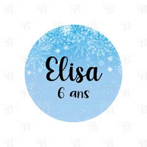 Stickers princesse des neiges Bobidibou achat matériel décoration anniversaire enfant France