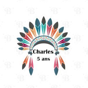 sticker-indien-tipi-bobidibou-anniversaire-enfant-decoration-pailles-toppers-personnalises