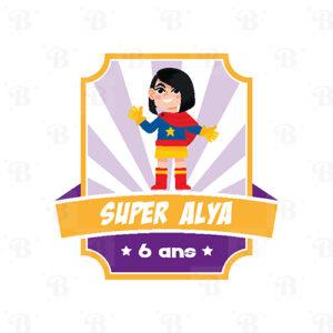 Stickers Super Héros personnalisé Bobidibou anniversaire enfant achat matériel décoration événement France