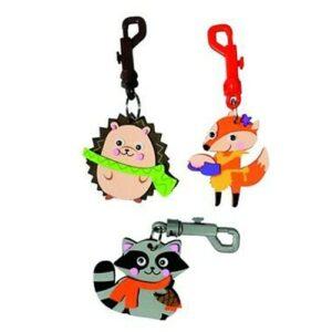 3 porte-clés animaux forêt à fabriquer Bobidibou anniversaire enfant achat matériel décoration France 01