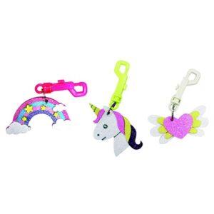 3 porte-clés licorne à fabriquer Bobidibou anniversaire enfant achat matériel décoration France 01