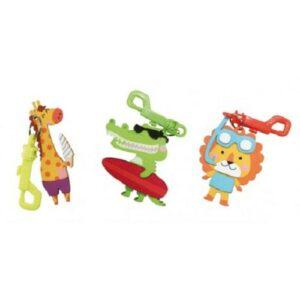 3 porte-clés animaux surfeur à fabriquer Bobidibou anniversaire enfant achat matériel décoration France 01