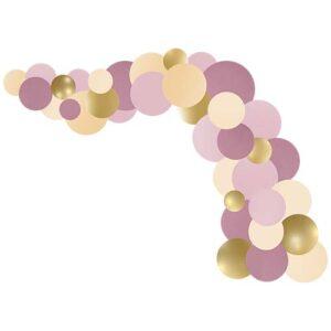 Guirlande ballon Rose Violet Doré 3m