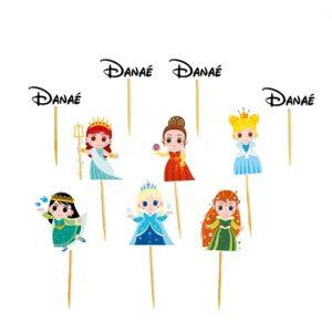 Mini toppers princesses disney bobidibou anniversaire enfant décoration 01