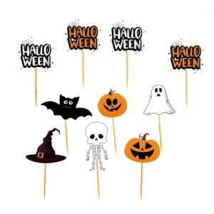 Mini toppers Halloween citrouille chauve souris fantome squelette Bobidibou enfant décoration France